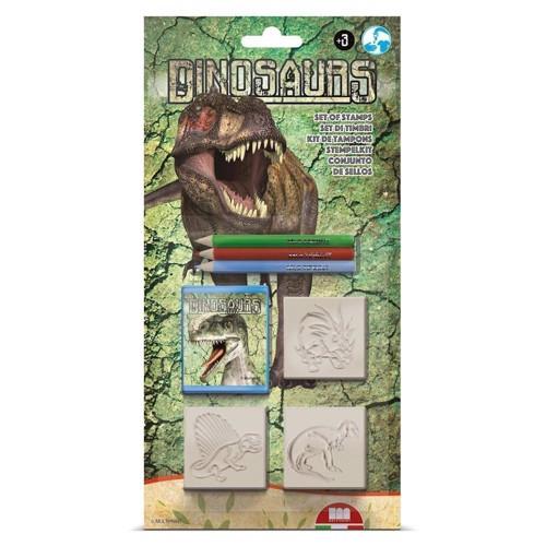 Image of   Stempelsæt, dinosaur, 7 dele