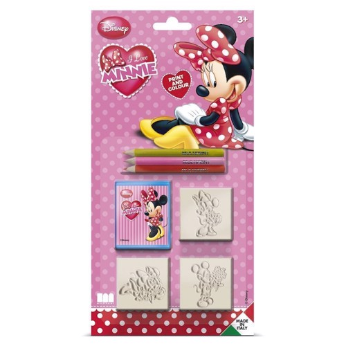 Image of   Stempelsæt, minnie mouse, 7 dele