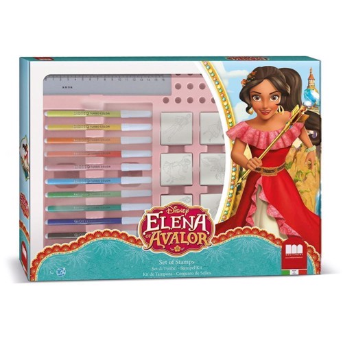 Image of   Stempelsæt maxi Elena or Avalor, 22 dele