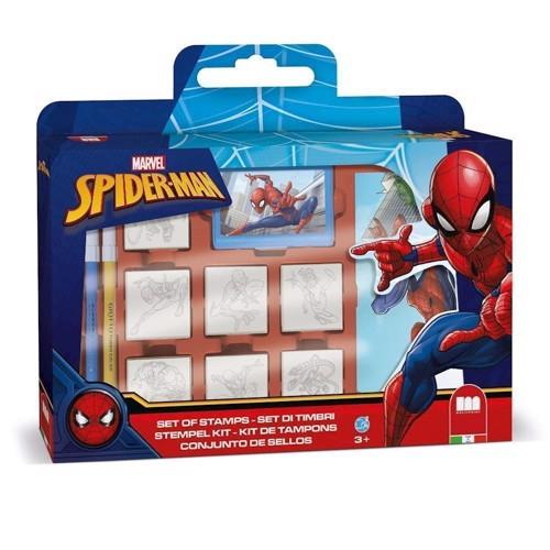 Image of   Stempelsæt, Spiderman, 12 dele