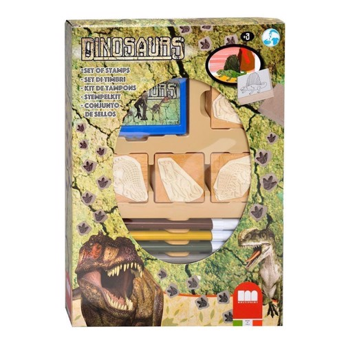 Image of   Multiprint Dinos 7packs 4Stempel, 1stamp cushion