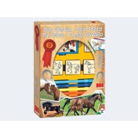 Multiprint Horses 7pcps 4Stempel, 1stamp cushion