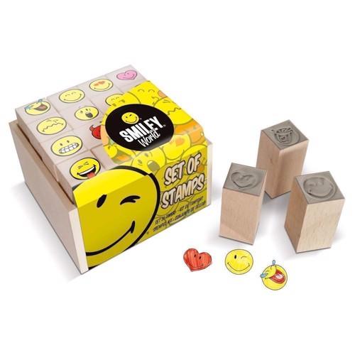 Image of Multiprint Smiley 16 Ministempel, 1Stempelkissen (8009233478879)