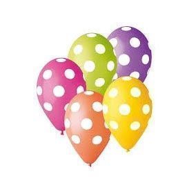 Image of Balonner med prikker, 5 stk