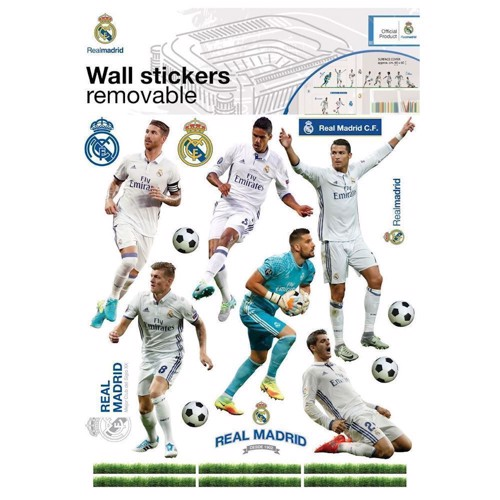 Image of   Wall Stickers Real Madrid 16 Players