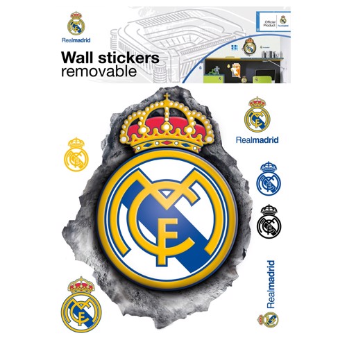 Image of   Wall sticker Real Madrid LOGO 3D