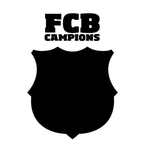 Image of   Wall sticker FC Barcelona Chalkboard