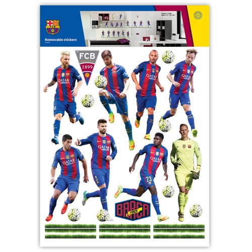 Image of   Wall Stickers FC Barcelona 16 Players