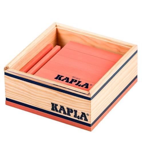 Image of   Kapla Klodser, 40 lyserøde brikker