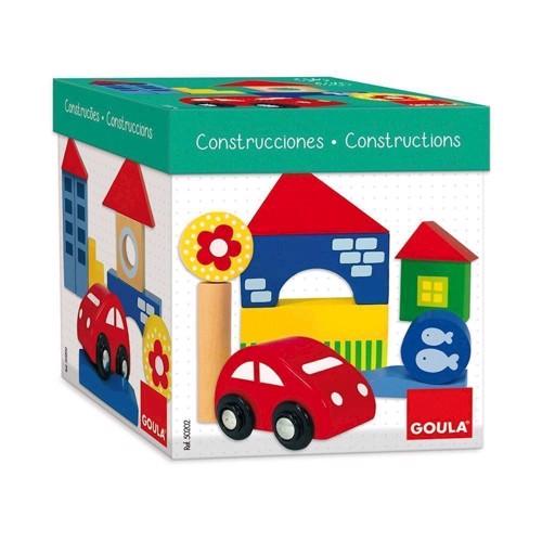 Image of Goula byggeklodser i træ 26 dele
