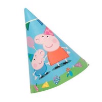 Peppa Pig Party hats, 6pcs.