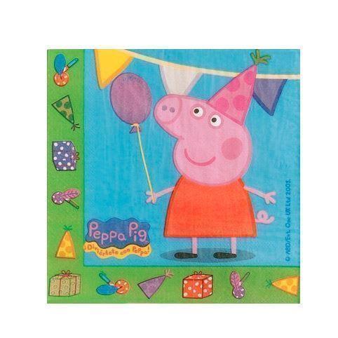 Image of   Peppa Pig napkins, 20pcs.