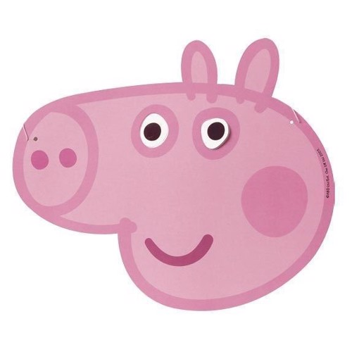 Image of   Peppa Pig Paper masks, 6pcs.