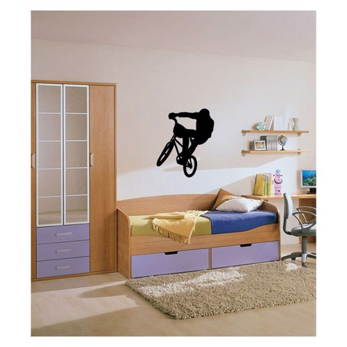 Image of   Wall sticker Bicycle cross