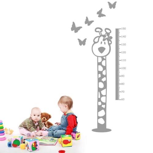 Image of   Wall sticker Height Chart Giraffe Light Blue