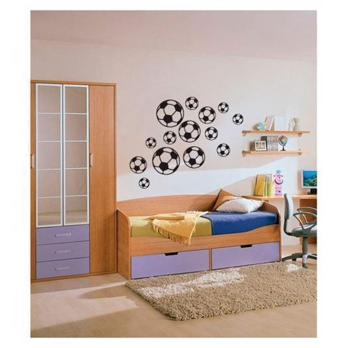 Image of   Wall sticker Football, set of 14