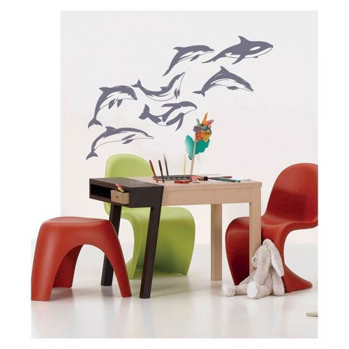 Image of   Wall sticker dolphins, set of 7