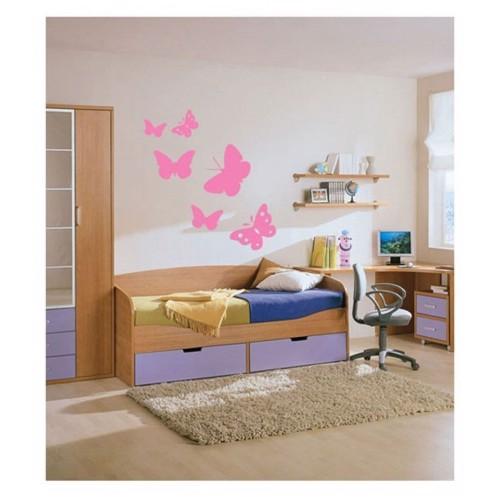Image of   Wall sticker Butterflies, set of 6
