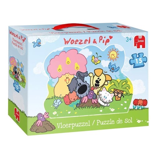 Image of Woezel &Pip wooden floor puzzle, 15pc. (8710126184042)