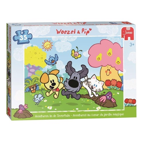 Image of Woezel &Pip Puzzle-adventures in the Magic Garden, 35st. (8710126184202)