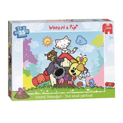 Image of Woezel &Pip Puzzle-Everywhere boyfriends, 35st. (8710126184226)