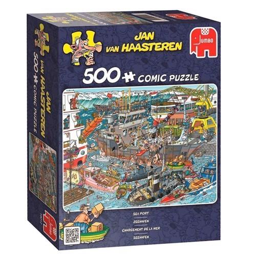 Image of Jan van Haasteren puslespil med 500 brikker havn (8710126190128)