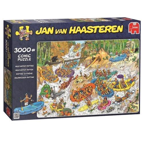 Image of Jan van Haasteren puslespil 3000 brikker, river rafting (8710126190173)