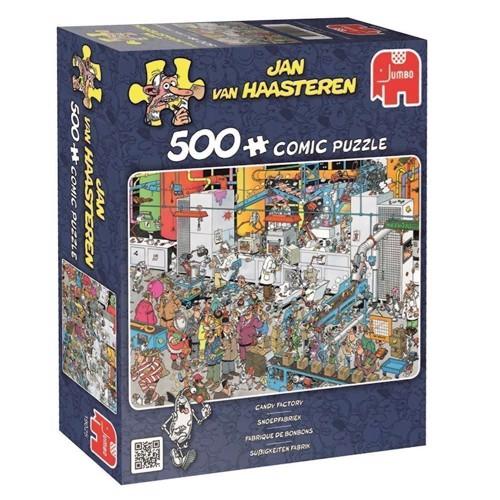 Image of Jan van Haasteren puslespil 500 brikker, slikfabrik