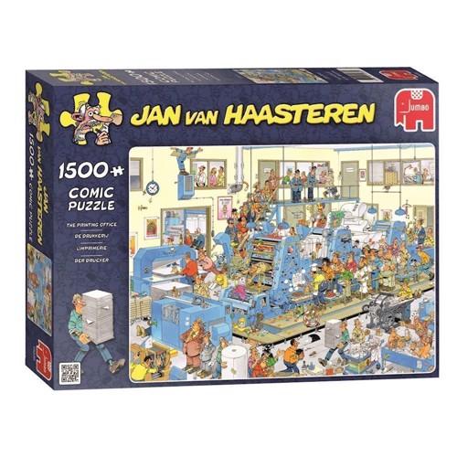 Image of Jan van Haasteren puslespil 1500 brikker, printer kontoret (8710126190395)