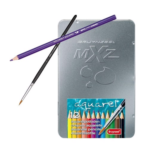 Image of Mxz Look 12 water soluble colour pencils