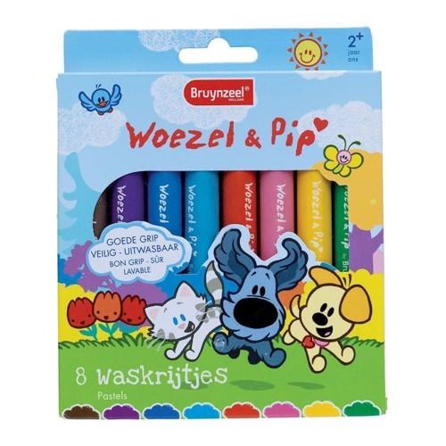 Image of   Bruynzeel Woezel &Pip Wax crayons, 8st.