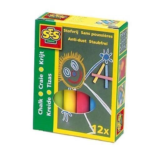 Image of SES School chalk-color, 12pcs. (8710341002015)
