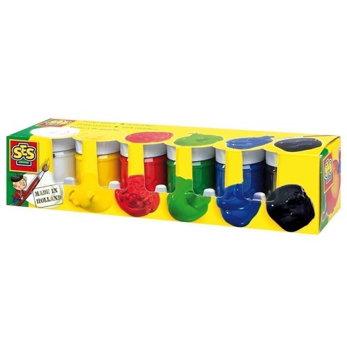 Image of SES poster paint, 6 colors (8710341003111)