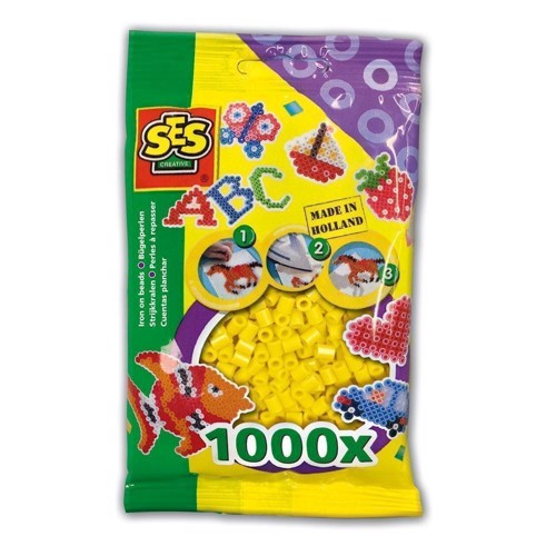 Image of   SES Ironing beads-yellow, 1000pcs.