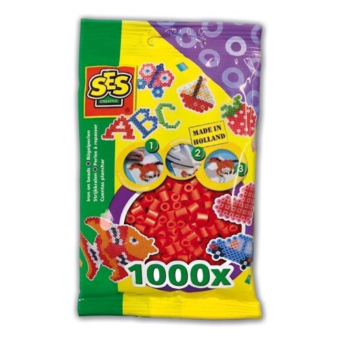 Image of   SES Ironing beads-red, 1000pcs.