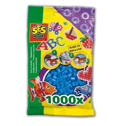 Image of   SES Ironing beads-blue, 1000pcs.
