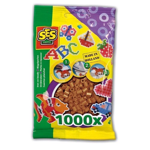 Image of   SES Ironing beads-Brown, 1000pcs.
