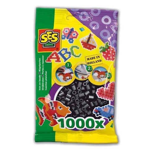 Image of   SES Ironing beads-black, 1000pcs.