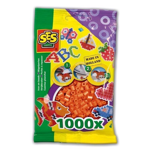 Image of   SES Ironing beads-Orange, 1000pcs.