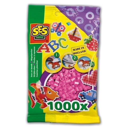 Image of   SES Ironing beads-pink, 1000pcs.