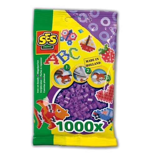Image of   SES Ironing beads-purple, 1000pcs.