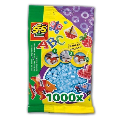 Image of   SES Ironing beads-light blue, 1000pcs.