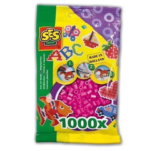 Image of   SES Ironing beads-Neon pink, 1000pcs.