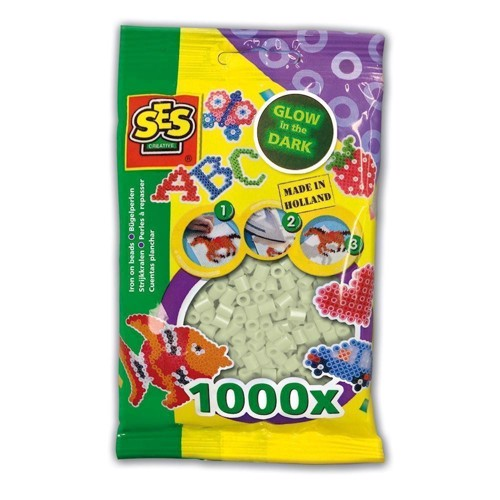 Image of   SES Ironing beads-Glow in the Dark, 1000pcs.