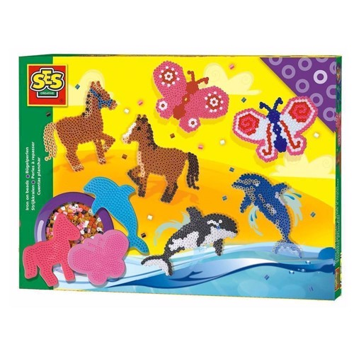 Image of   SES Ironing Beads Horse, Butterfly, Dolphin