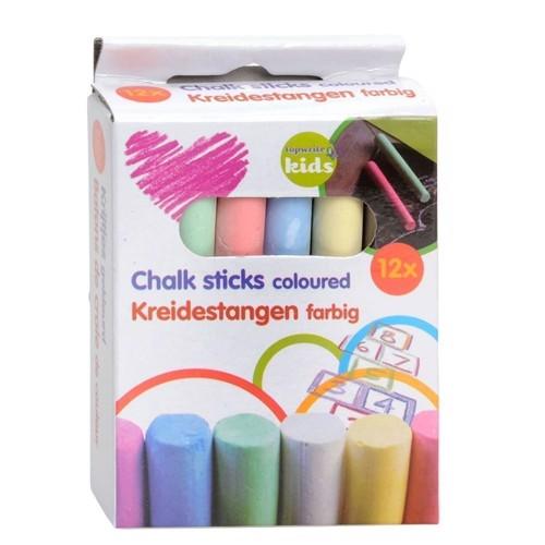 Image of Skolekridt, tavlekridt, farvet (8711252319766)