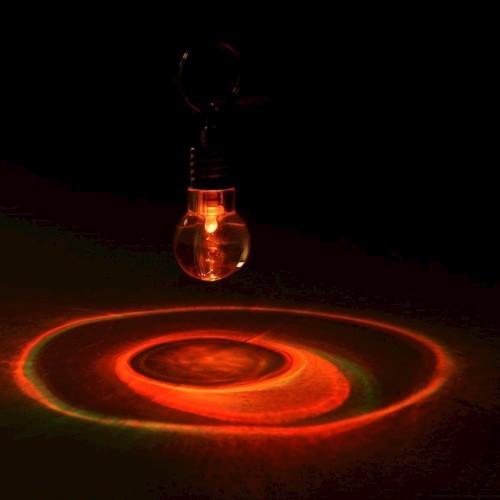 Nøglering, pære, LED