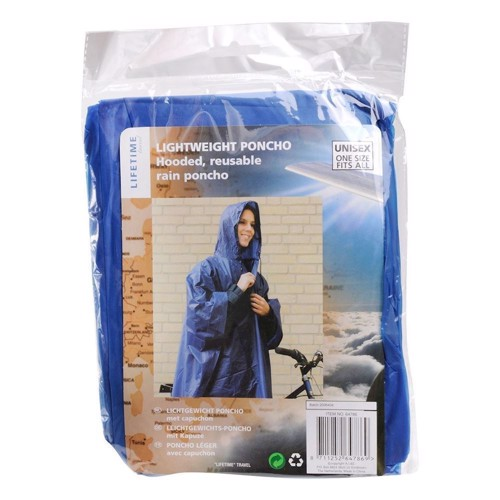"Image of   Engangs "" regnjakke "" poncho"