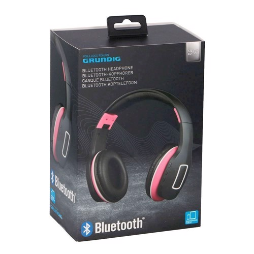 Image of   Grundig, Bluetooth Headset - Pink / Sort