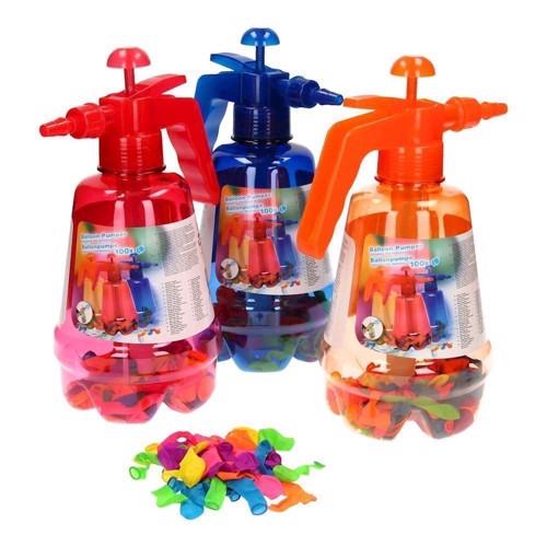 Image of   Vandbalonner med pumpe